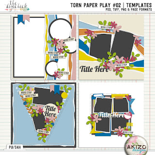 Torn Paper Play 02 by Akizo Designs