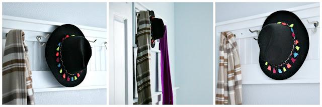 athomewithjemmablog, coat, rack, diy, beadboard, organization, laundryroom