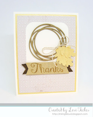Fall Thanks card-designed by Lori Tecler/Inking Aloud-stamps and dies from Reverse Confetti