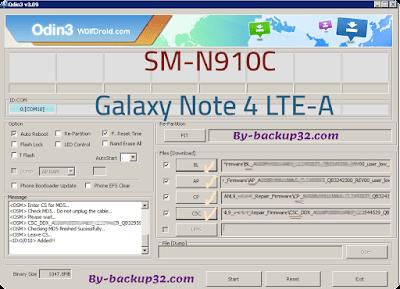 سوفت وير هاتف Galaxy Note 4 LTE-A موديل SM-N910C روم الاصلاح 4 ملفات تحميل مباشر