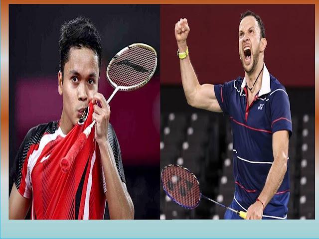 Pasti Seru Nonton Live Olimpiade Juara 3 Badminton Tunggal Putra : A.S. Ginting (INA) Vs K. Cordon (GBR) Jam 18.00 WIB