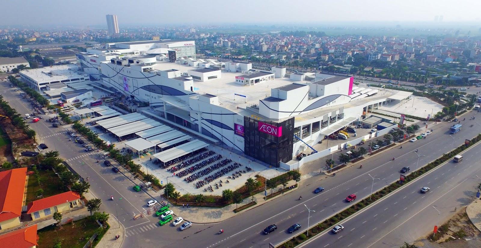 Toàn cảnh Aeon Mall Long Biên.