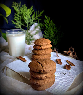 Cinnamon flavored finger millet cookies