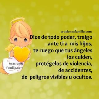 imagen de ángel oración de protección para que Dios los bendiga y proteja