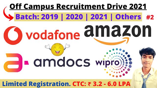 Amazon Off Campus Recruitment Drive 2021