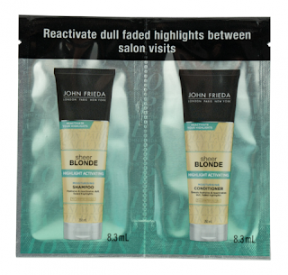 John Frieda Sheer Blonde Highlight Activating Moisturising Shampoo and Conditioner, Sachets