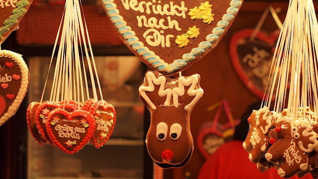 Ginger cookies shaped like reindeer at the Christmas Market in Berlin