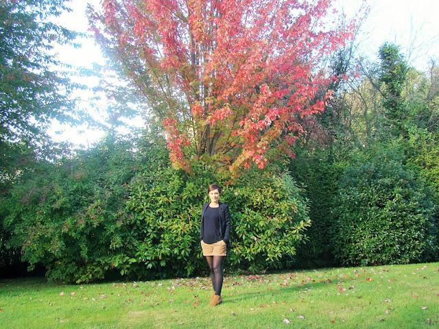 Look Mode automne short et veste fashion style