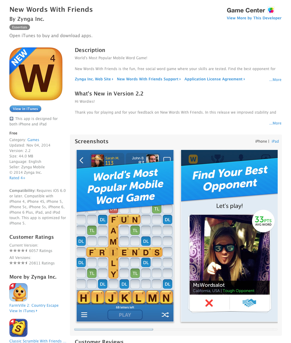 UCET Free iOS and Android App: New Words with Friends - UCET