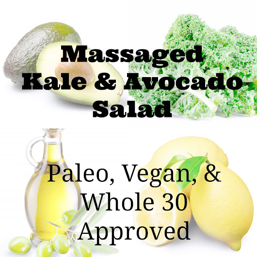Massaged Avocado Kale Salad & Kale Chips