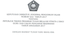 Juknis Beasiswa S2 bagi Guru Madrasah dan calon Pengawas Madrasah