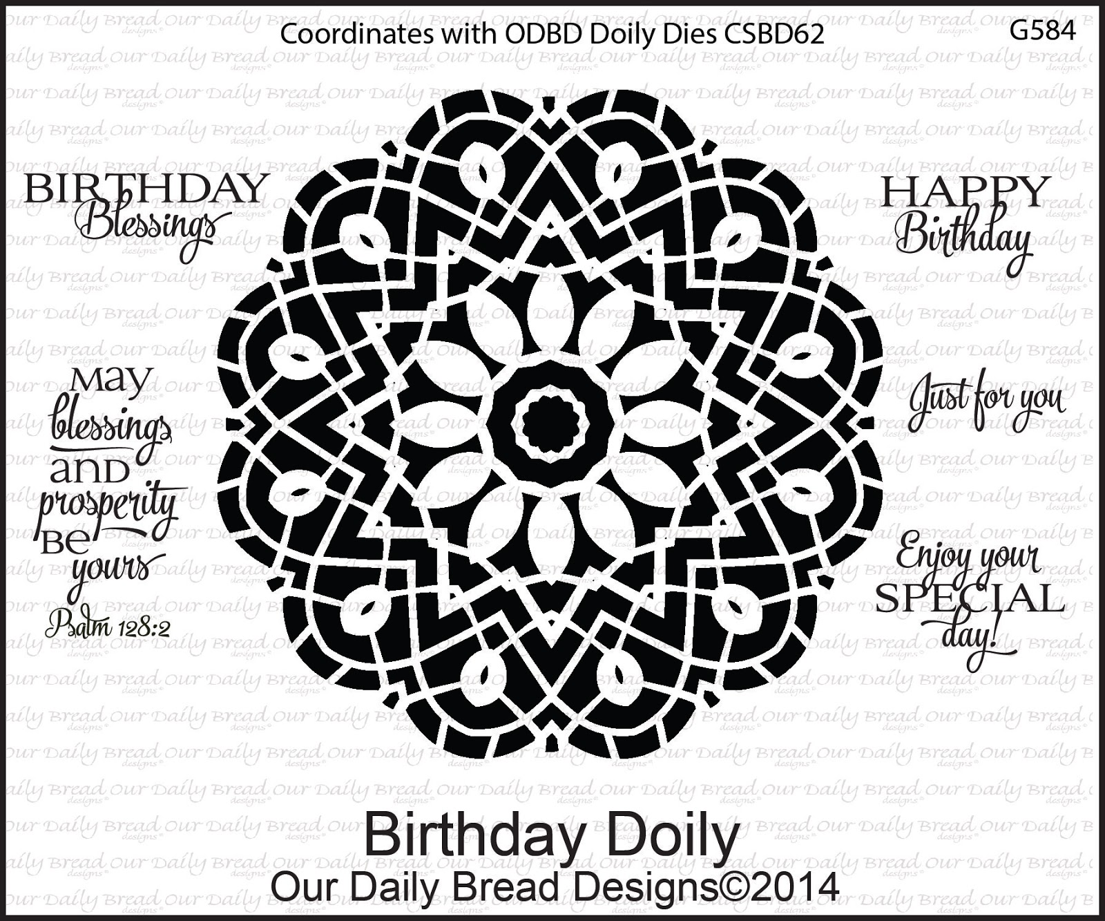 Stamps - Our Daily Bread Designs Birthday Doily