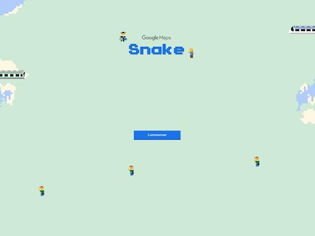 كيفية لعب لعبة الثعبان Snake المخفية على خرائط جوجل