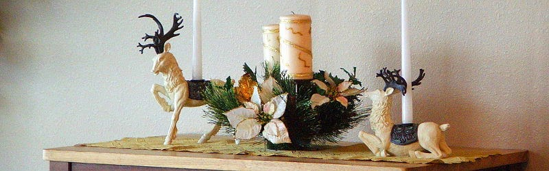 Christmas sleigh centerpiece decoration idea
