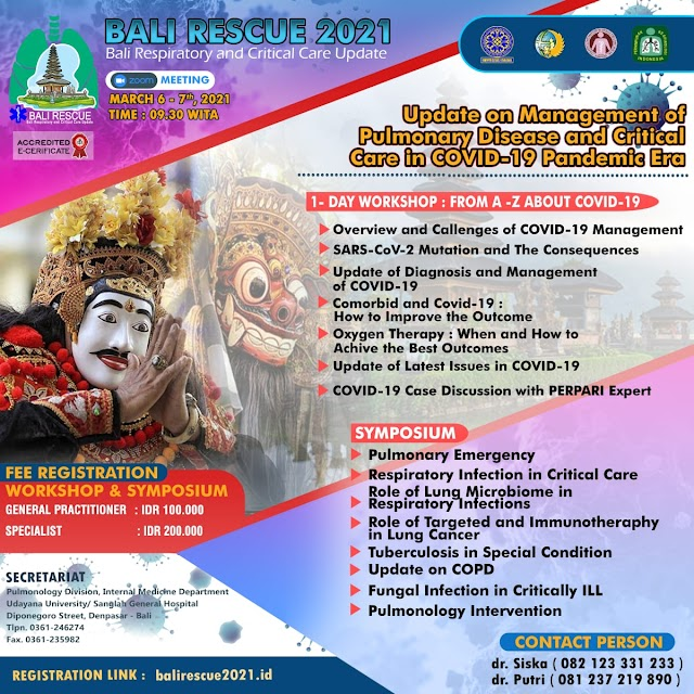 Workshop & Symposium  Bali Respiratory and Critical Care Update