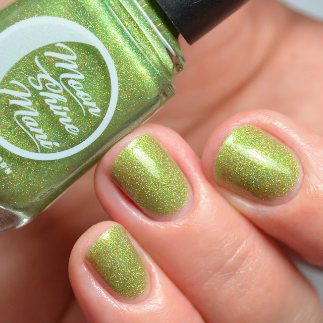 swampy green holographic nail polish
