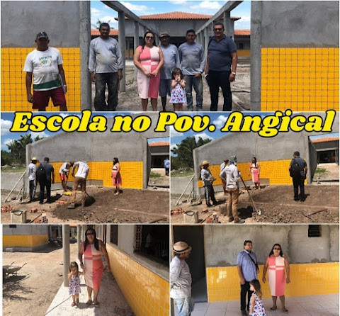 MAIS OBRAS: Prefeita Vanderly visita escola em fase de acabamento no povoado Angical e quadra poliesportiva