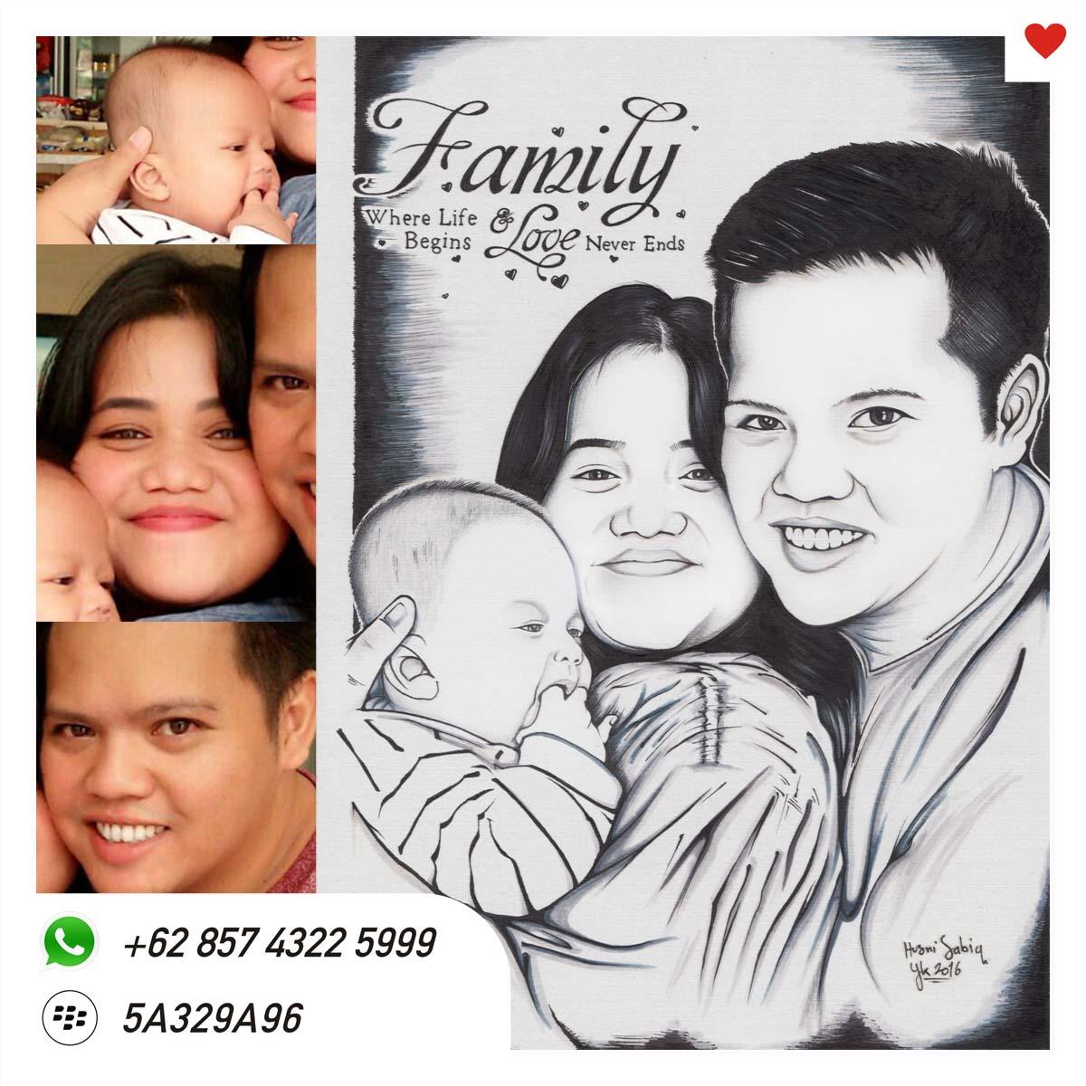 Karikatur Lukis Untuk Keluarga Jasa Lukis Wajah Karikatur