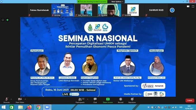 Forshei Adakan Seminar Nasional dalam Rangka Memperingati Harlah ke-13