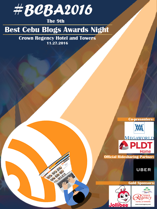 Best Cebu Blogs Awards 2016 Official Event Poster
