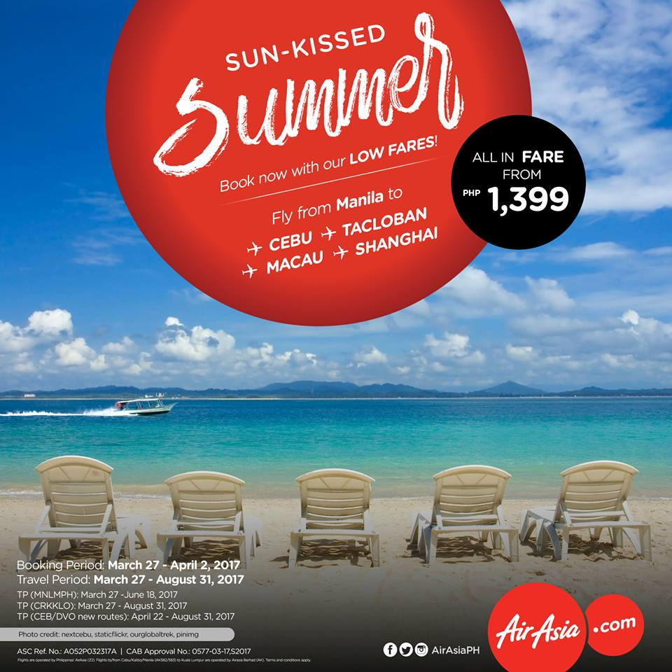 Airasia sun kissed summer seat sale