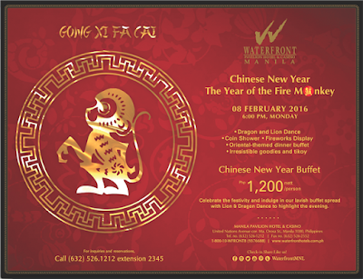 Celebrate The Year Of The Monkey At Manila Pavilion Hotel