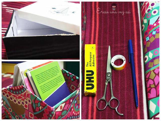 manualidades, manualidades con cajas, caja de zapatos, archivadores