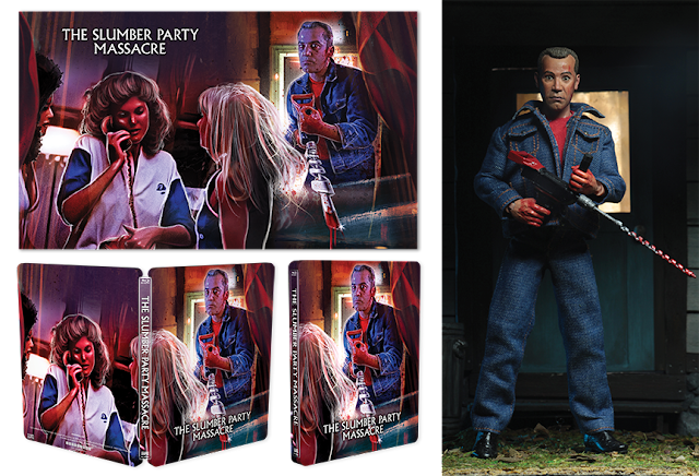 Scream Factory's Limited Edition of THE SLUMBER PARTY MASSACRE comes with everything seen here!