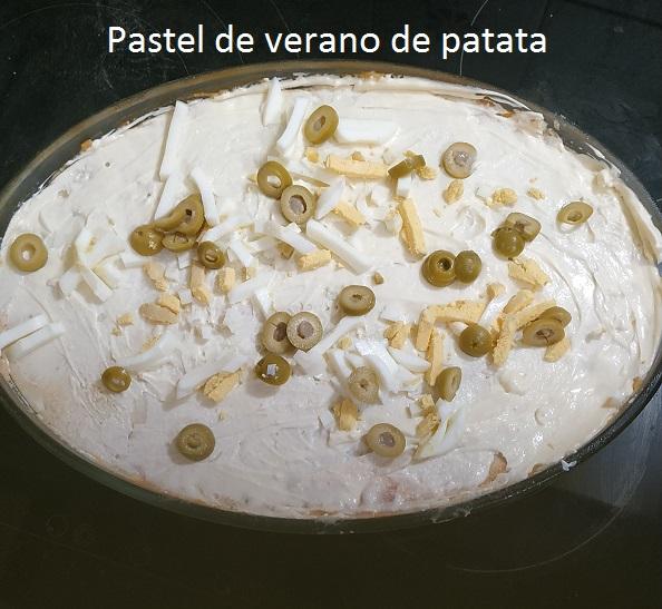 Pastel de verano de patata
