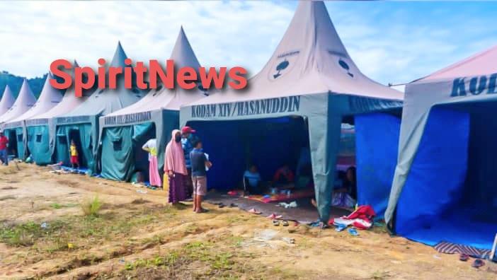 Para Pengungsi Sangat Terbantu Dengan Tenda Kodam Hasanuddin