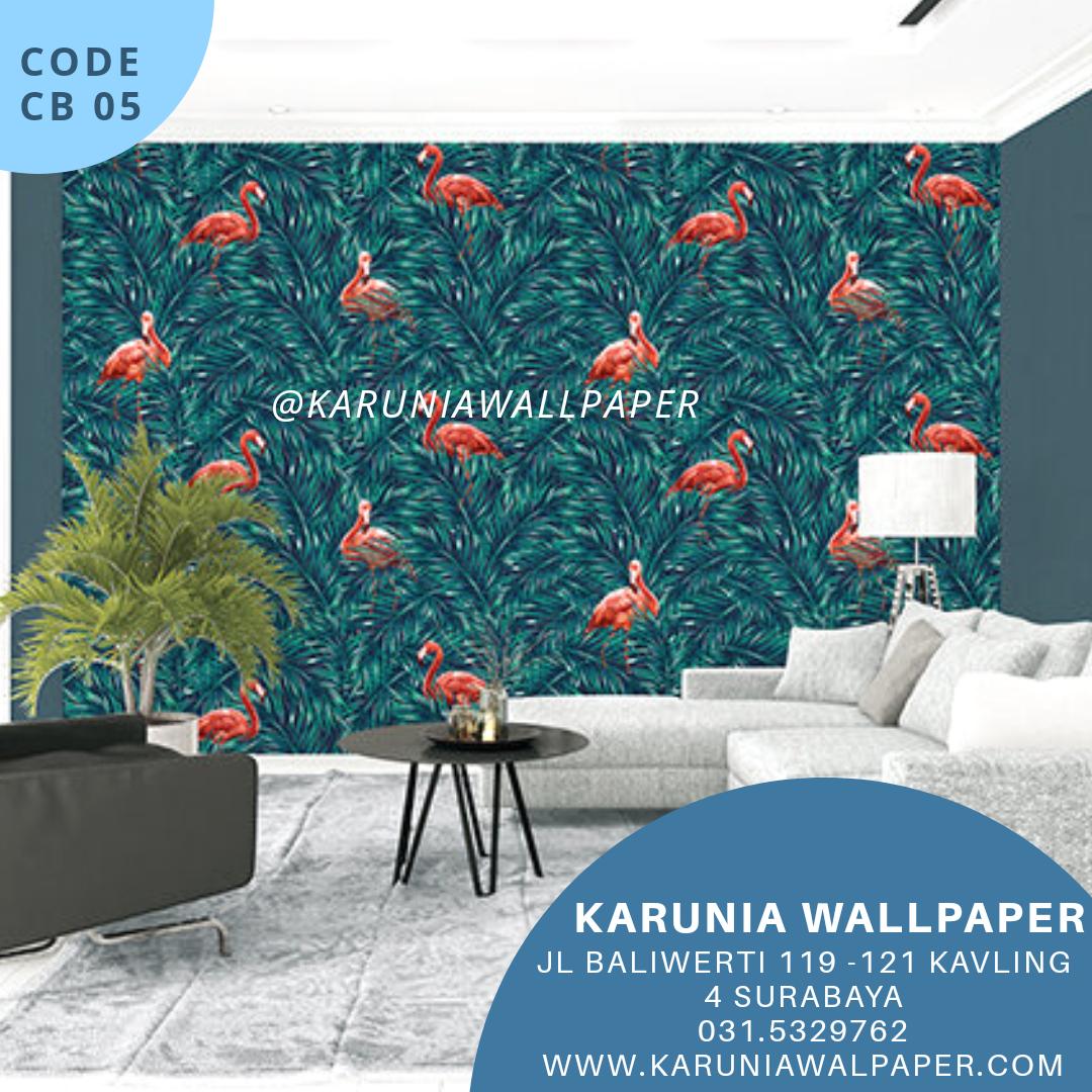 jual wallpaper motif tropical tropis
