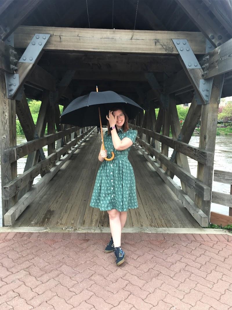 Umbrellas Shirt Dress