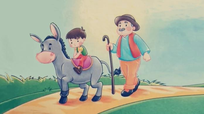 Il contadino, il figlio e l'asino - Esopo