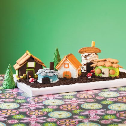 Fanciful Fairy Village Cake