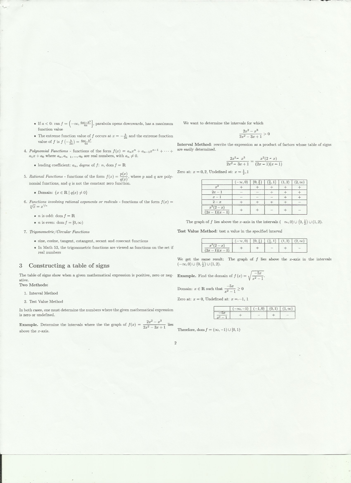 UPD Samplexes, Readings, and Materials: UPD Math 100
