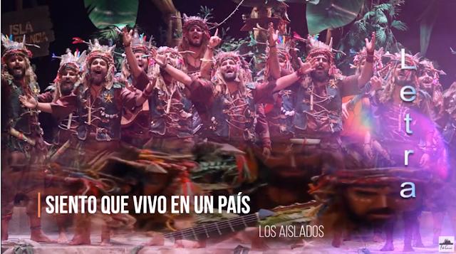 """❤️💛❤️Pasodoble """"Siento que vivo en un país"""" 🌴 Comparsa """"Los Aislados"""" con Letra (2020)"""