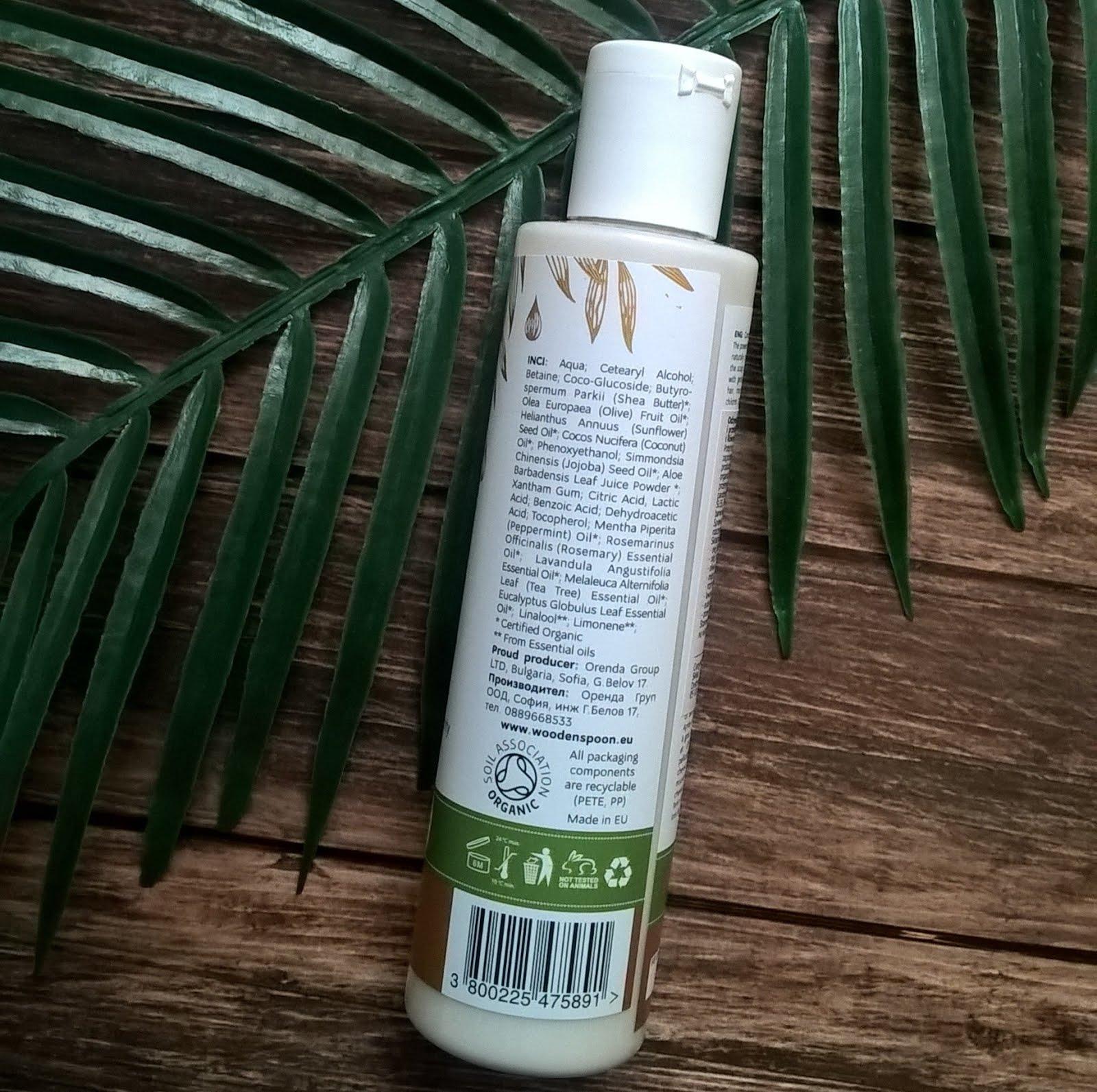 Wooden Spoon, Freshness & Balance - Świeżość i Równowaga Odżywka do włosów przetłuszczających skład inci