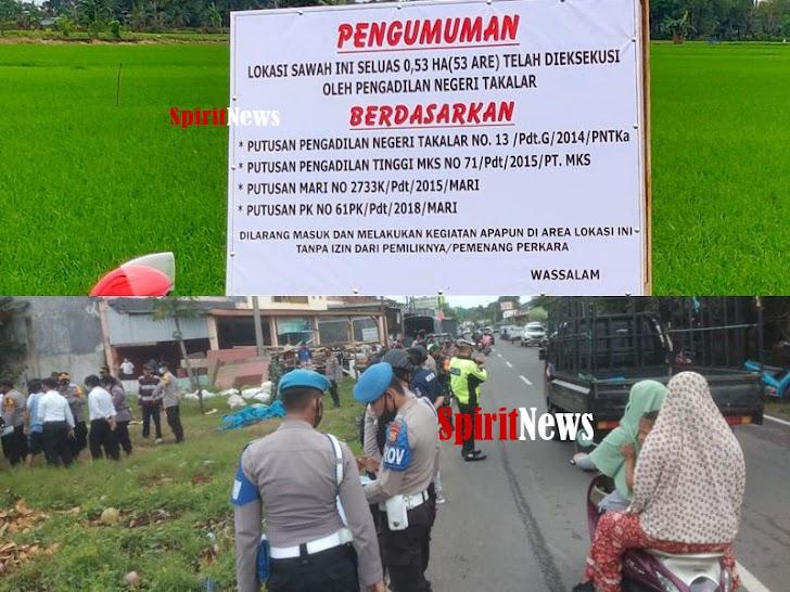 Personil Polsek Galsel Dampingi Pengadilan Negeri Takalar Laksanakan Eksekusi penyerahan Lahan Tanah
