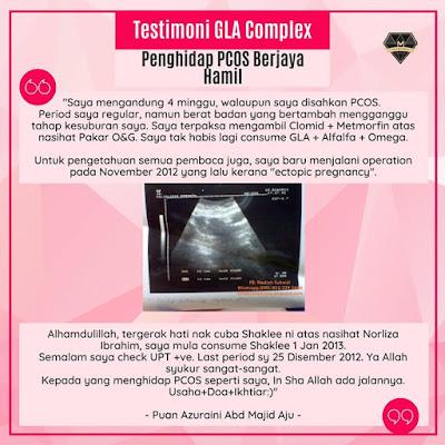Testimoni GLA Complex Shaklee Untuk PCOS (1)