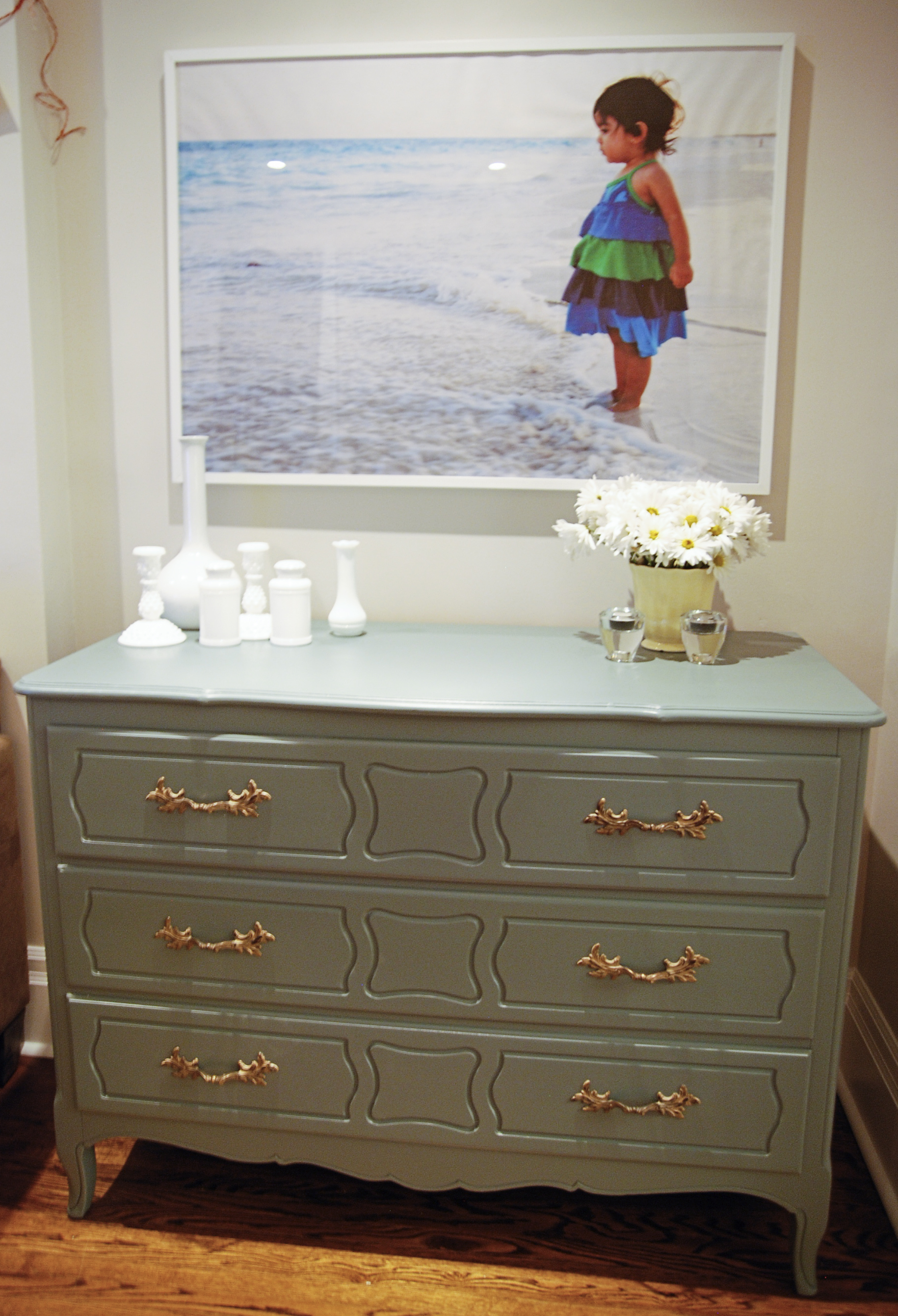 schoolhouse slate dresser, teal painted dresser, vintage painted dresser