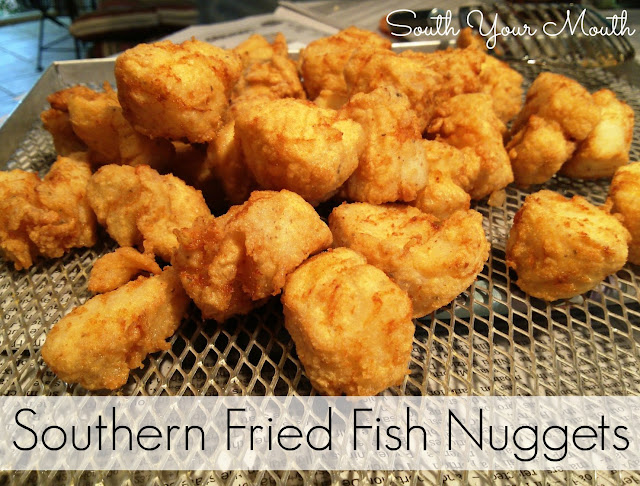 South your mouth southern fried fish nuggets for Southern fish fry batter