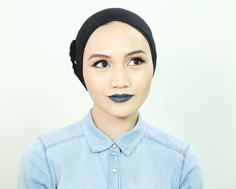 Brunei Beauty, Fashion, Life & Style Hijabi Blogger wearing NYX Liquid Suede in Stone Fox
