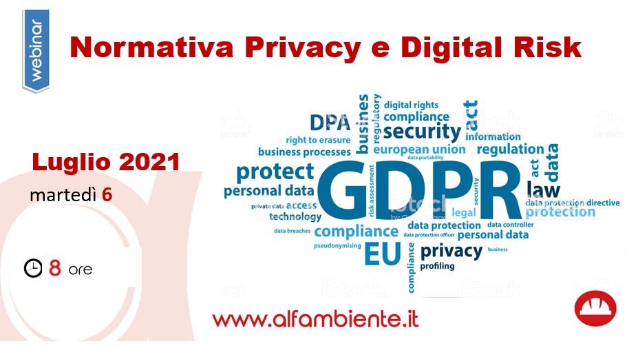 NORMATIVA PRIVACY E DIGITAL RISK