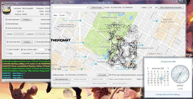 Update PokeBot Ninja V53: Bot Pokémon GO Terbaru Untuk PC/Laptop (Work September)