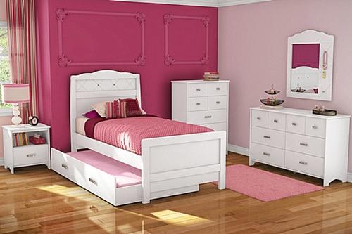 Contoh Kamar Tidur untuk Perempuan Warna Pink yang Cantik ...
