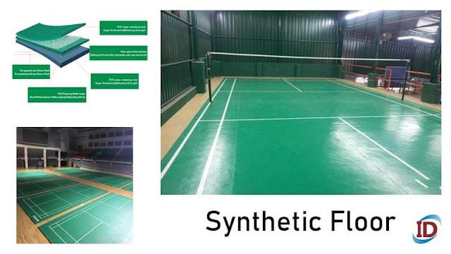 syntetic Floor untuk Jenis Lantai Untuk Lapangan Badminton