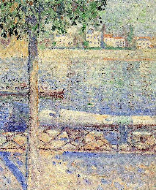 Эдвард Мунк - Вид с лодкой в Сен-Клу. 1890