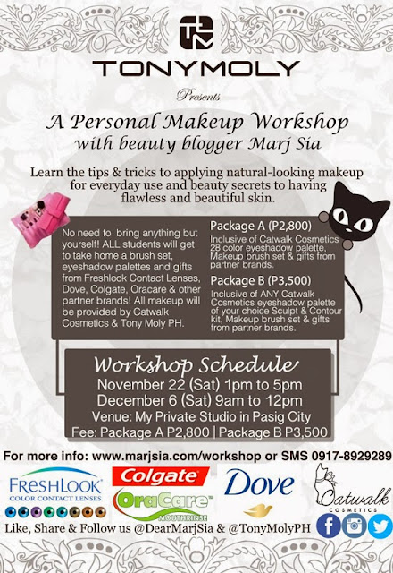 Marj Sia Tonymoly Makeup Workshop