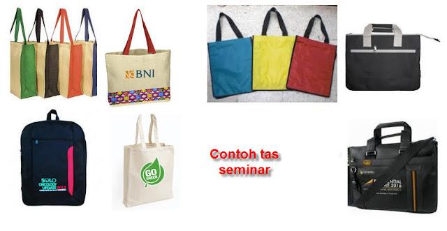 Konveksi pembuatan tas promosi seminar murah di Gianyar Bali