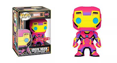 Target Exclusive Black Light Iron Man Pop! Marvel Vinyl Figure by Funko
